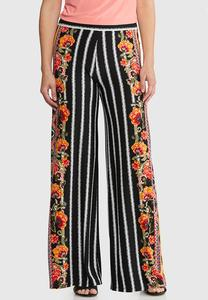 Floral Striped Palazzo Pants