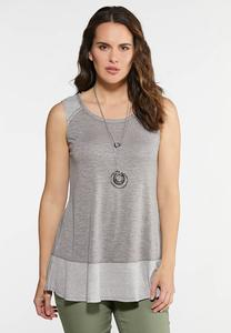 Plus Size Rib Hem Swing Tank
