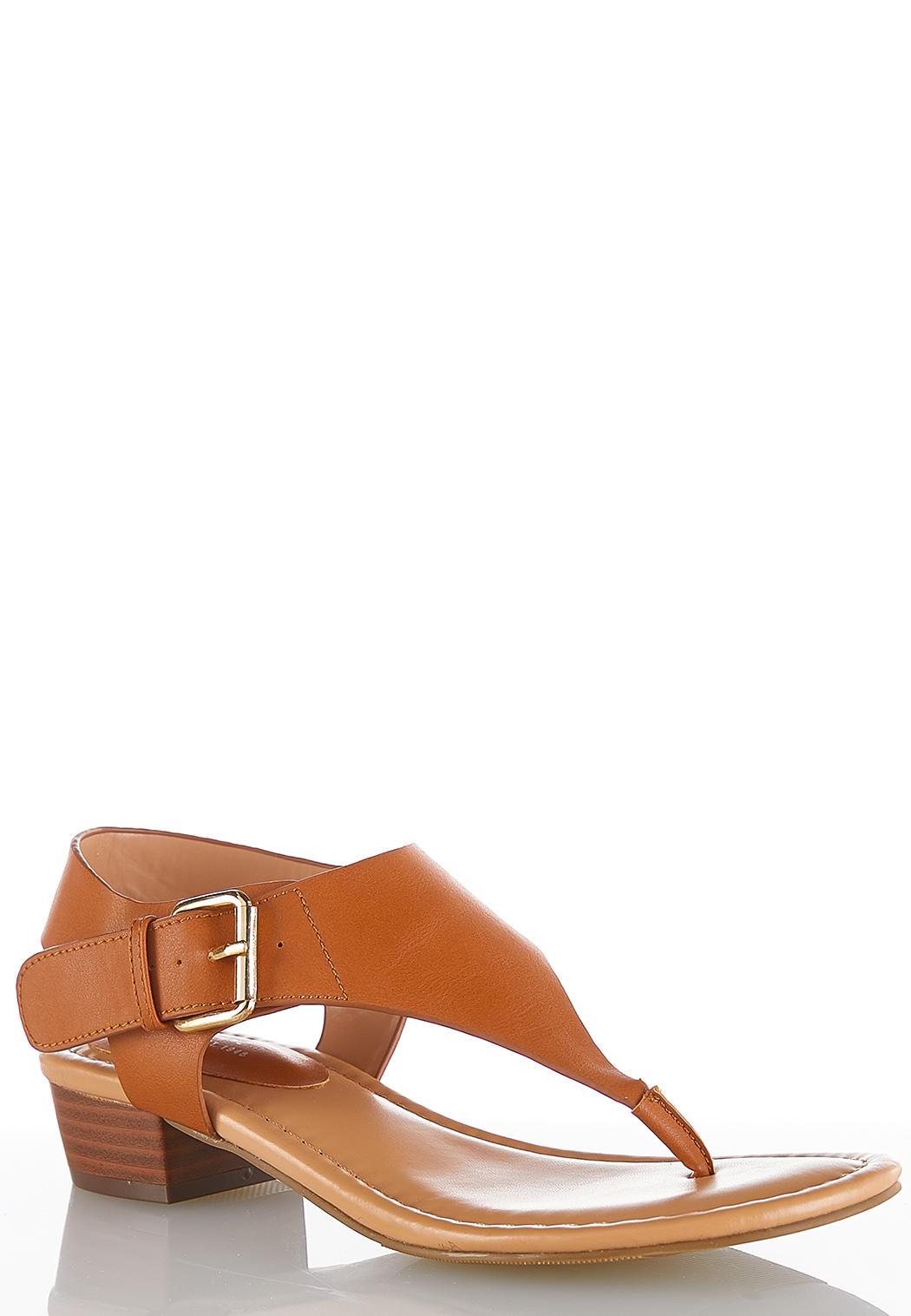 Shield Thong Heeled Sandals