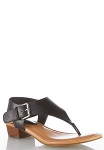Shield Thong Heeled Sandals