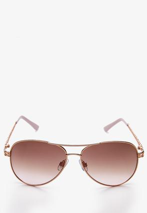 Pink Lady Aviator Sunglasses