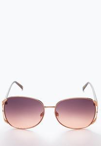 Rose Gold Square Sunglasses
