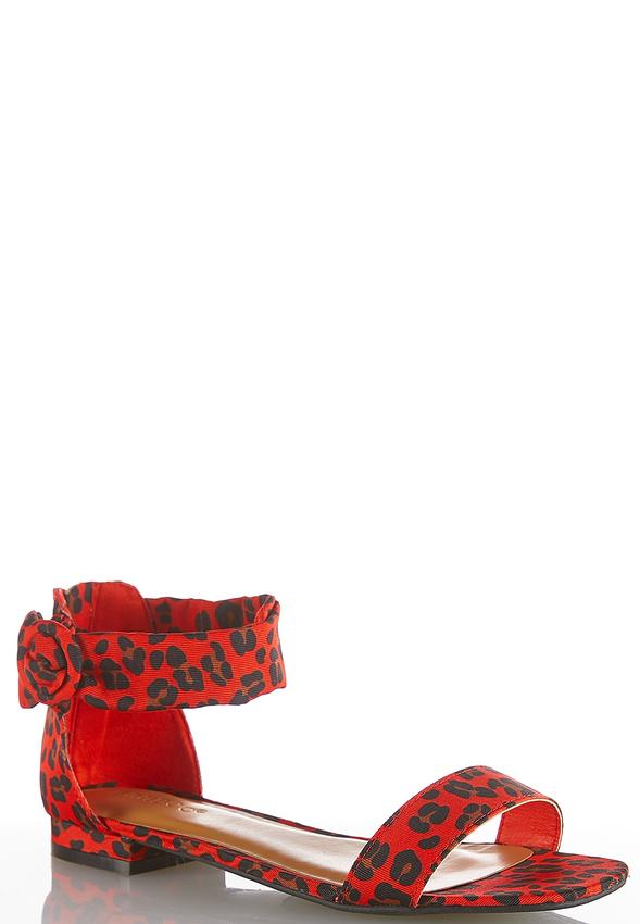 edff8a725ff Leopard Ankle Strap Sandals alternate view Leopard Ankle Strap Sandals