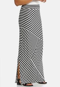 1768936ac363d Plus Size Mixed Stripe Maxi Skirt