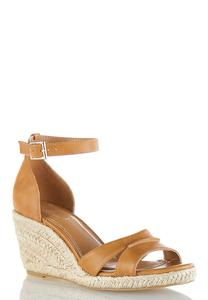 Wide Width Cutout Vamp Roped Wedges