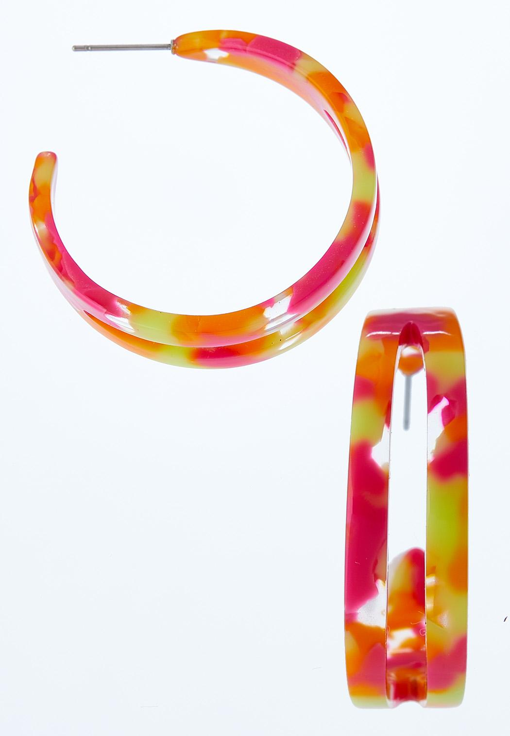 Split Lucite Hoop Earrings