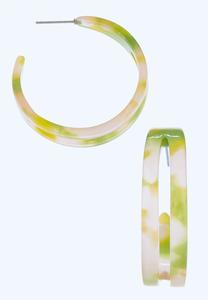 Split Lucite Hoop Earrings