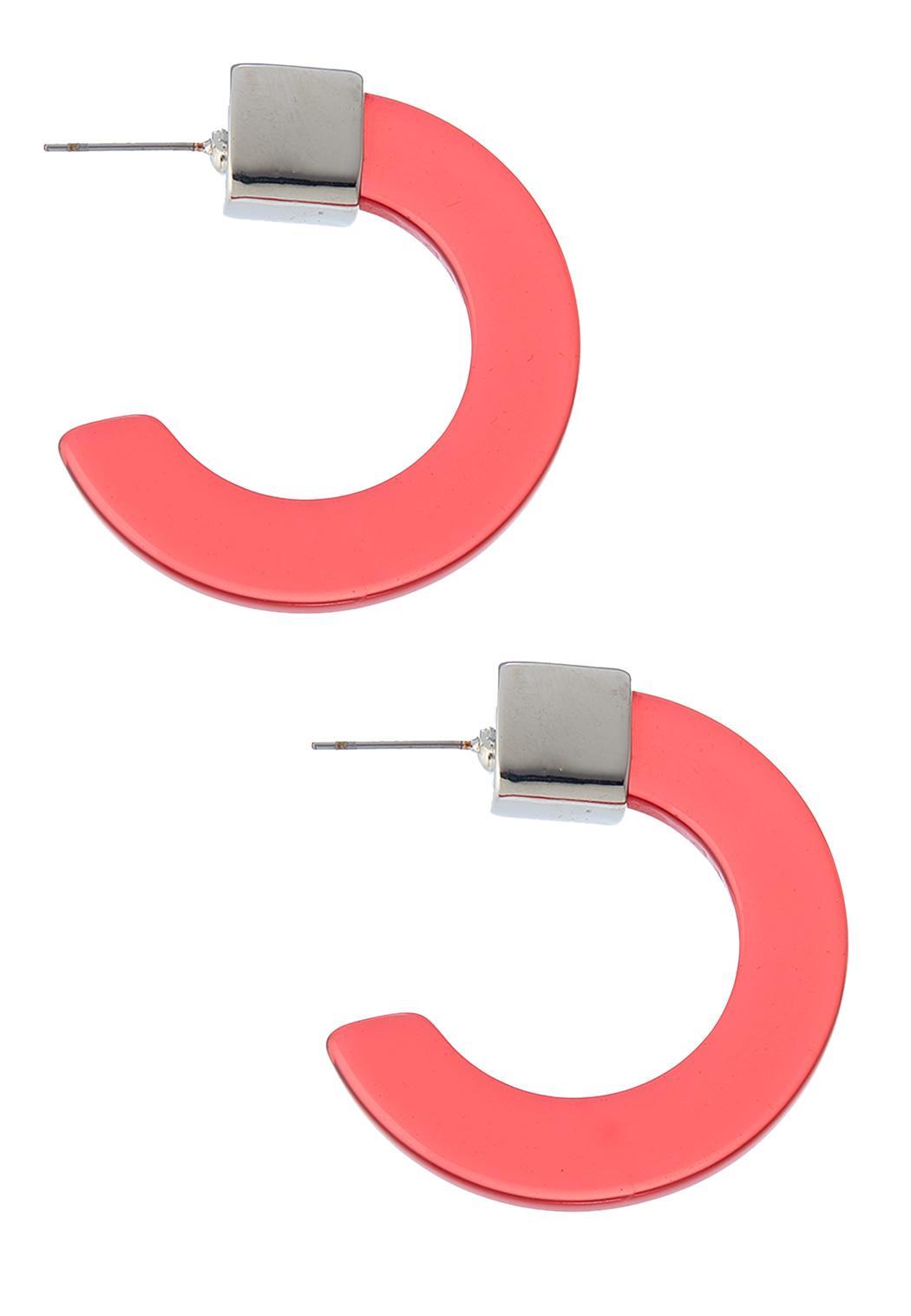 Color Open Hoop Earrings