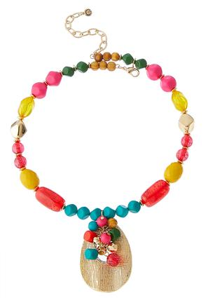 Bright Bead Pendant Necklace