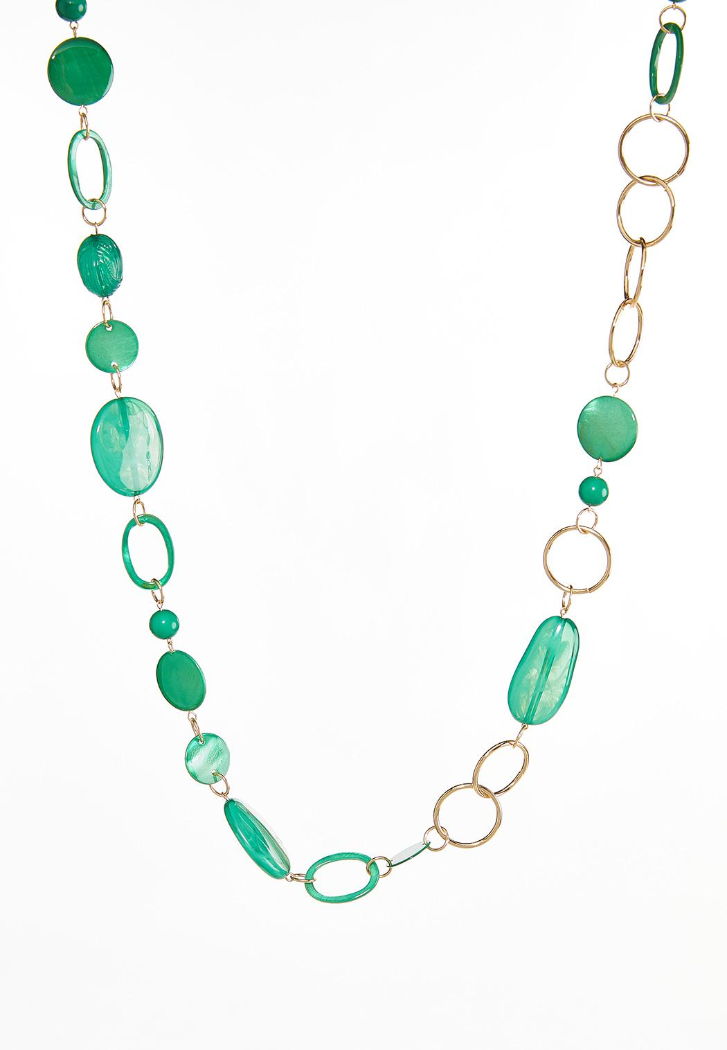 Long Link Colored Necklace
