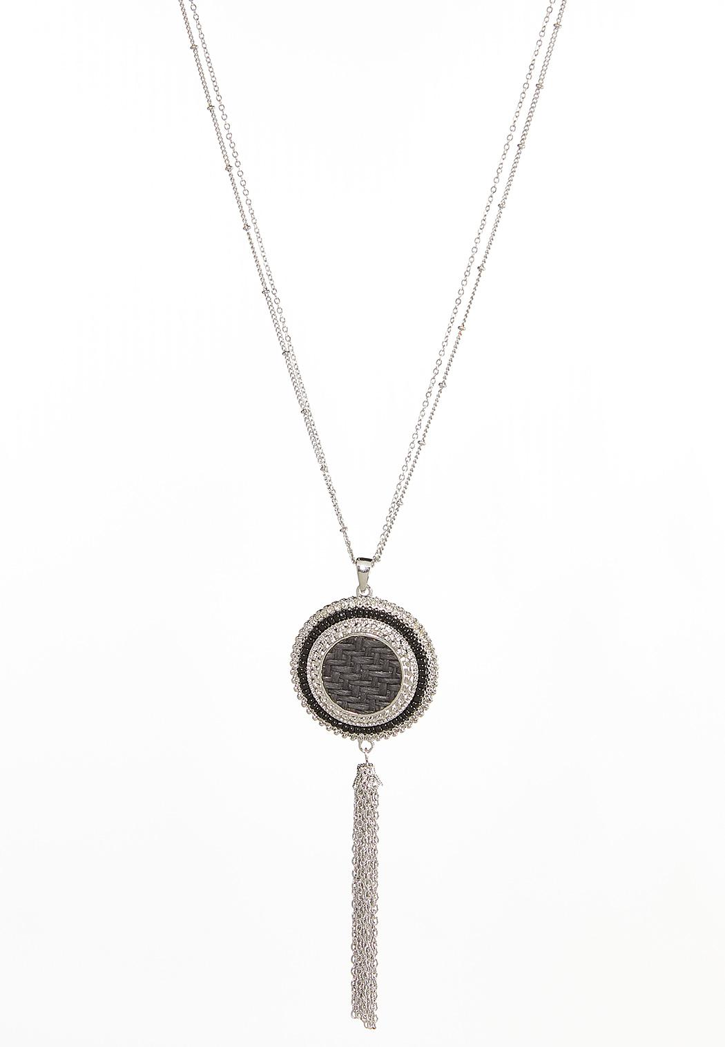 Double Chain Tasseled Pendant Necklace