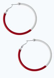 Two-Tone Color Hoop Earrings