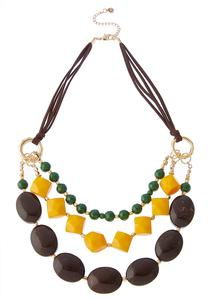 Tribal Bead Cord Necklace