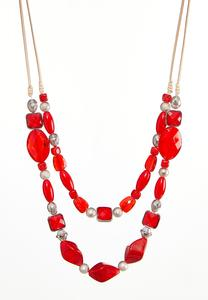 Layered Mixed Bead Necklace
