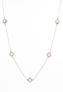 Delicate Stationed Stone Necklace