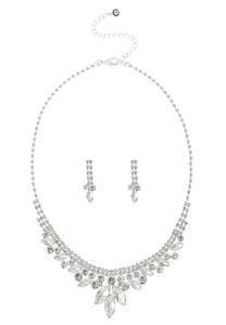 Glitzy Marquis Necklace Set