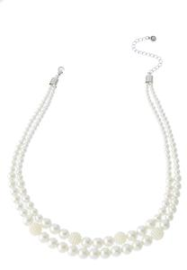 Layered Short Pearl Necklace