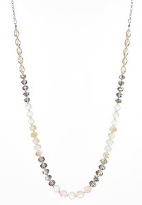 Moonstone And Ivory Bead Necklace
