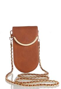 Metal Trim Cellphone Crossbody