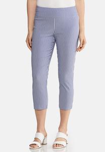 Cropped Stripe Bengaline Pants