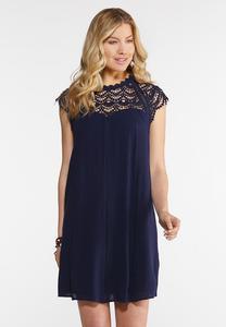 Gauze Lace Yoke Dress