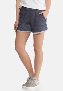 Dark Wash French Terry Shorts