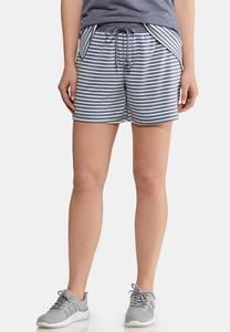 Stripe Drawstring Shorts