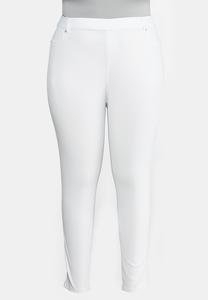 Plus Extended Skinny Knit Pants