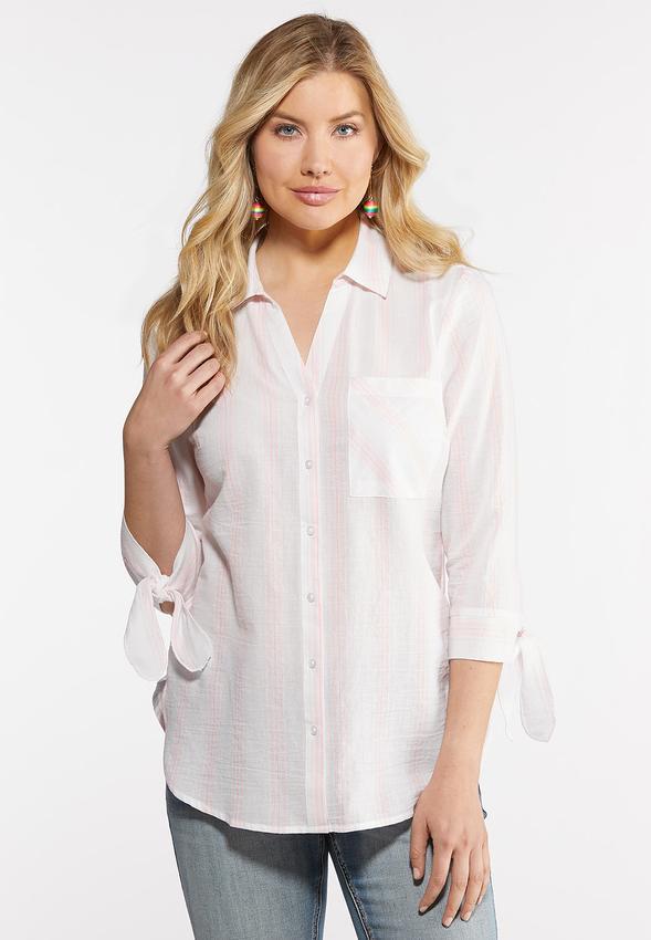 Neon Stripe Linen Shirt
