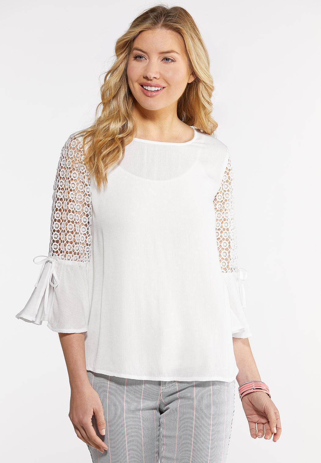 Crochet Bell Sleeve Top