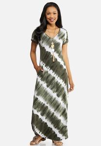 43d78e69cfb Petite Green Tie Dye Maxi Dress