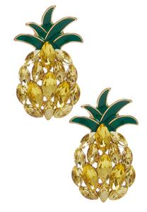 Stone Pineapple Earrings