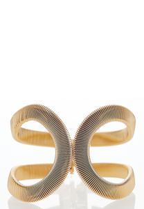 Gold Loop Oversized Cuff Bracelet