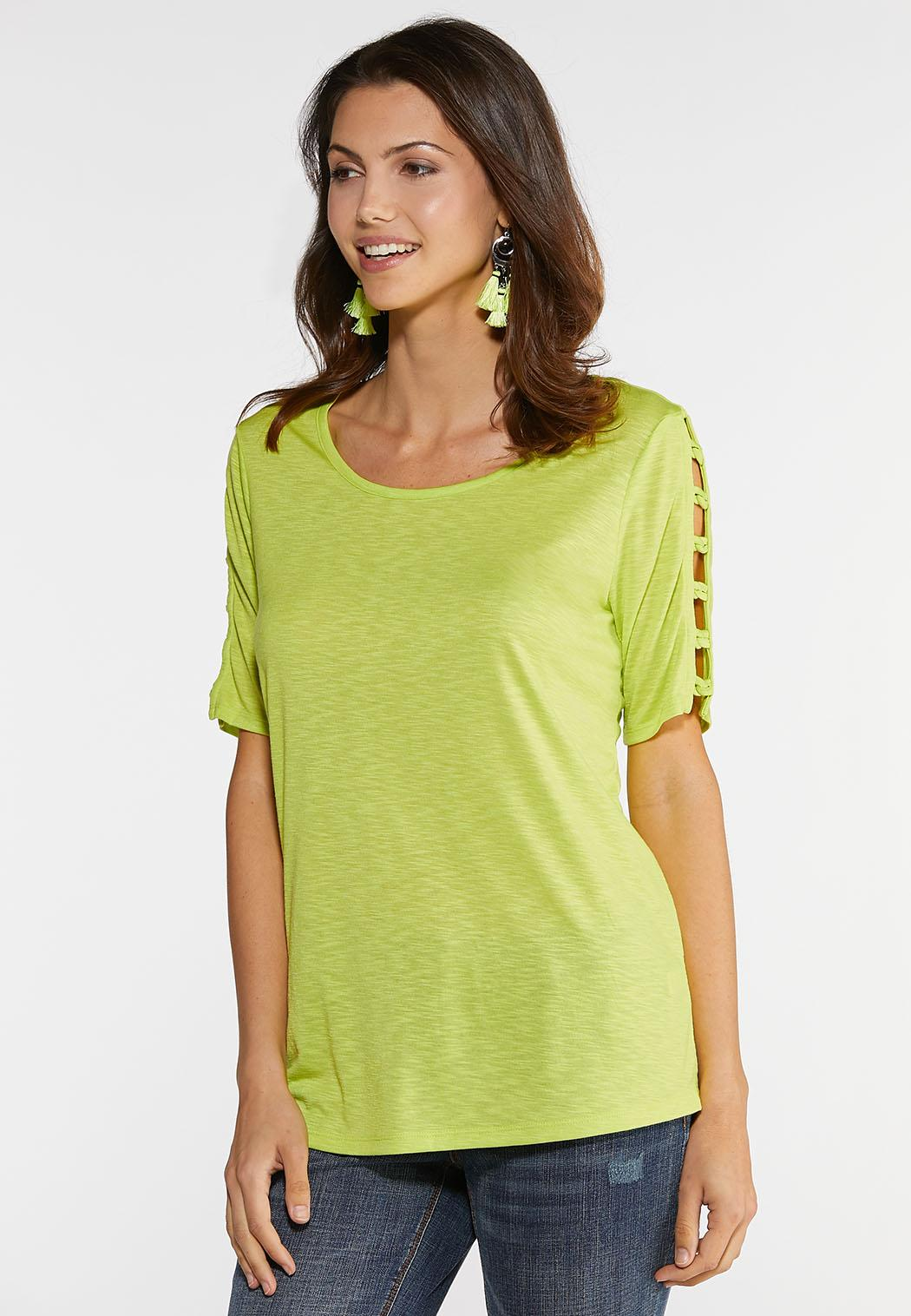 Knotted Sleeve Tee