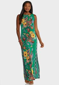 Plus Size Botanical Maxi Dress