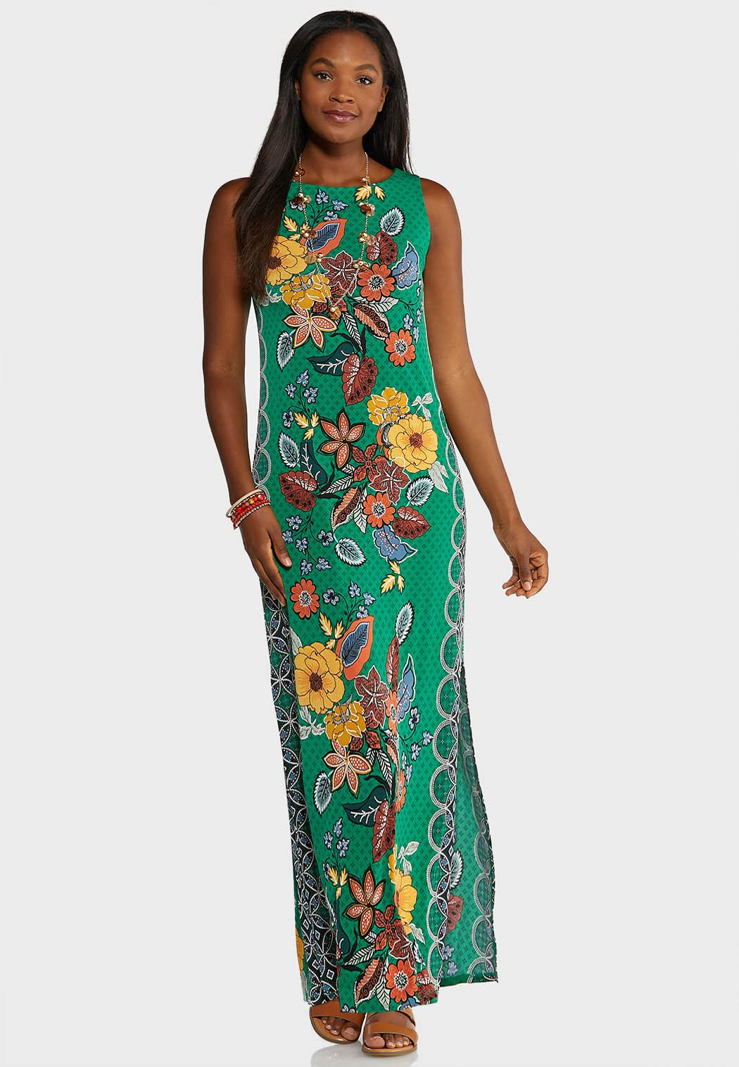 Plus Size Botanical Maxi Dress Plus Sizes Cato Fashions