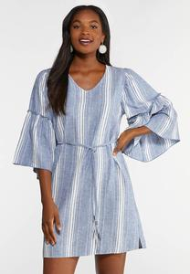 Chambray Tie Waist Dress