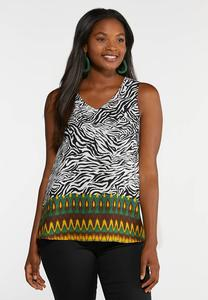 Plus Size Jungle Print Tank