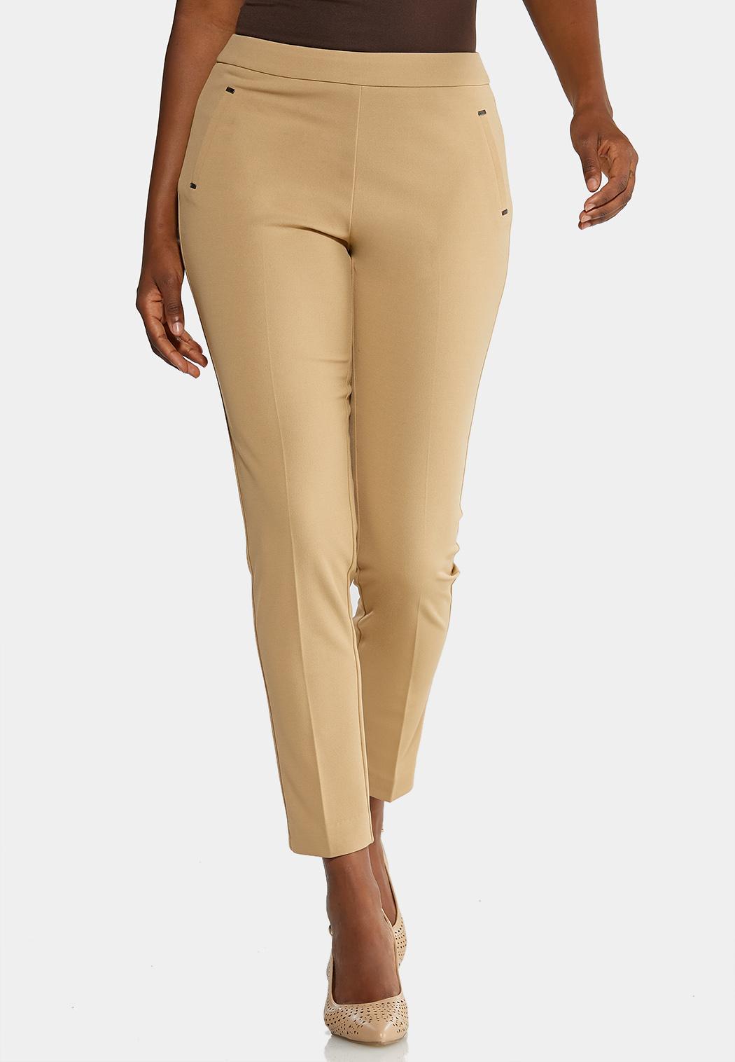 Cropped Slim Knit Pants
