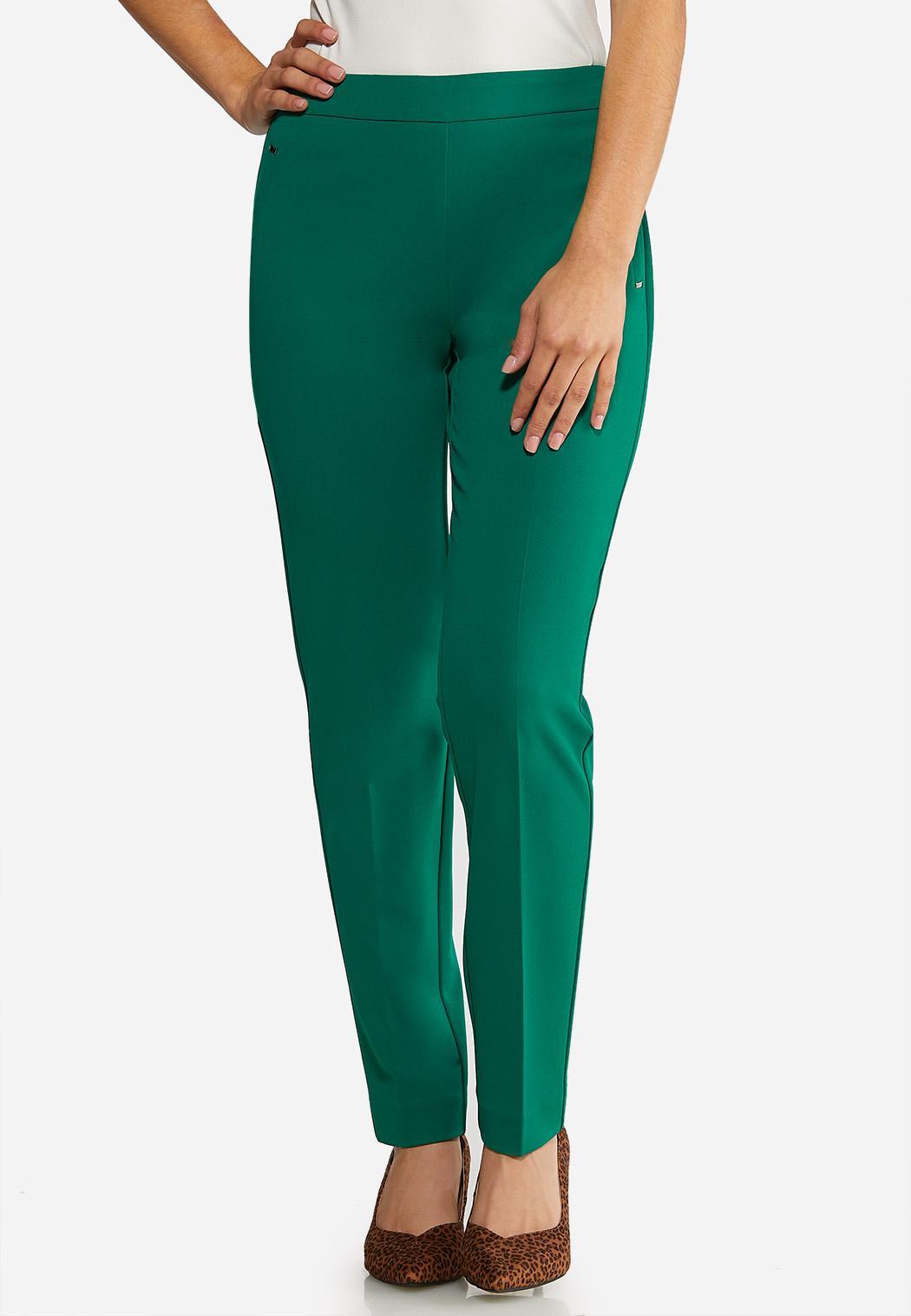 Slim Leg Dressy Knit Pants