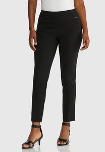 Petite Cropped Slim Knit Pants