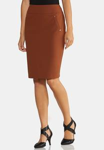 Plus Size Knit Pencil Skirt