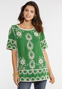 Plus Size Embroidered Bohemian Tunic