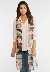 Printed Side Tie Duster