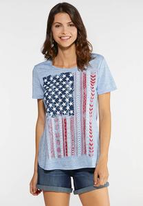 Plus Size Americana Graphic Tee