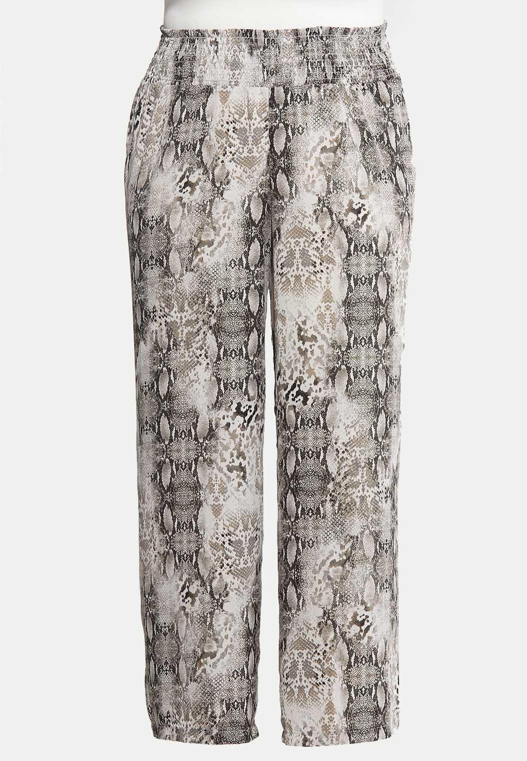 d16e30dc8445 Plus Size Snake Print Palazzo Pants Wide Leg Cato Fashions