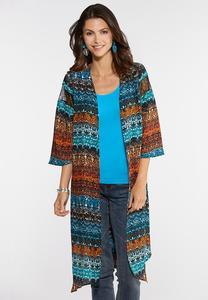 Columbia Teal Kimono