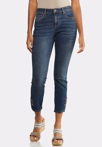 Button Detail Denim Jeans