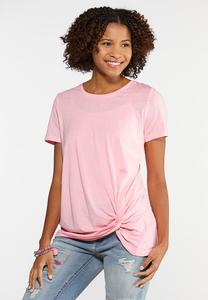 Plus Size Twisted Hem Tee