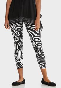 Cropped Zebra Leggings